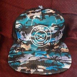 Thee-O Tropical Glow Trucker Hat - Blue